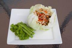 Insalata del granchio della Tailandia da avere un sapore Immagine Stock
