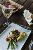 Insalata del polipo con pane e vino. Immagine Stock Libera da Diritti