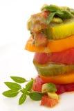 Insalata del pomodoro di Heirloom fotografie stock