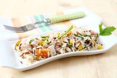 Insalata del riso Fotografia Stock