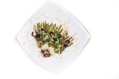 Insalata dell'asparago Fotografia Stock