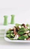 Insalata della bistecca, degli spinaci e del fungo Fotografie Stock Libere da Diritti