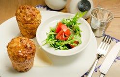 Insalata della carne con i pomodori secchi Fotografie Stock