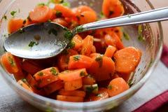 Insalata della carota Fotografie Stock Libere da Diritti