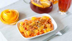 Insalata della carota con l'arancia Immagine Stock