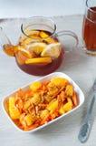 Insalata della carota con l'arancia Fotografia Stock