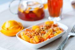 Insalata della carota con l'arancia Fotografia Stock Libera da Diritti