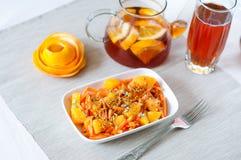 Insalata della carota con l'arancia Fotografie Stock Libere da Diritti