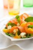 Insalata della carota con spinaci Fotografie Stock