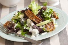 Insalata della lattuga e della pancetta affumicata Fotografie Stock Libere da Diritti