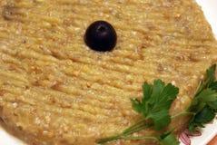 Insalata della melanzana per i vegetariani Immagine Stock