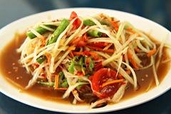 Insalata della papaia dalla Tailandia Immagine Stock