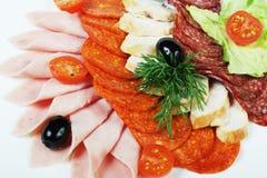 Insalata della salsiccia Fotografia Stock Libera da Diritti