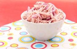 Insalata della salsiccia Fotografia Stock