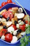 Insalata della verdura e del pane Fotografia Stock