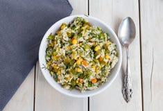 Insalata della verdura e del riso Fotografia Stock