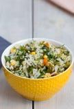 Insalata della verdura e del riso Fotografia Stock Libera da Diritti