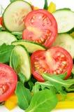 Insalata della verdura fresca, fine sulla vista Fotografie Stock Libere da Diritti
