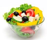 Insalata della verdura fresca isolata Immagini Stock