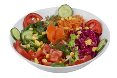 Insalata della verdura fresca isolata su un fondo bianco Immagine Stock Libera da Diritti
