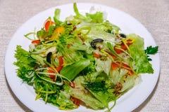 Insalata della verdura fresca su fondo bianco fotografia stock