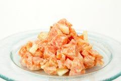 Insalata delle carote sulla zolla Immagine Stock Libera da Diritti