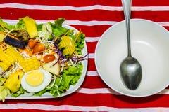 Insalata delle frutta e delle verdure Fotografia Stock