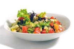 Insalata delle verdure con formaggio Immagine Stock