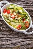 Insalata dello zucchini Fotografie Stock Libere da Diritti