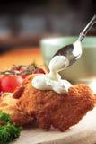 Insalata di cavoli del pollo immagine stock