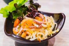 Insalata di color salmone del sashimi Fotografia Stock Libera da Diritti