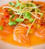 Insalata di color salmone piccante Fotografia Stock Libera da Diritti