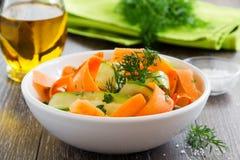 Insalata di estate delle carote Fotografia Stock Libera da Diritti