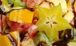 Insalata di frutta (primo piano) immagini stock libere da diritti