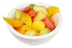 Insalata di frutta in una ciotola. Fotografie Stock Libere da Diritti