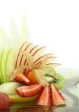 Insalata di frutta variopinta Fotografia Stock