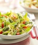 Insalata di pasta con asparago ed il pomodoro Immagine Stock