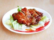 Insalata di pollo fritto Fotografia Stock