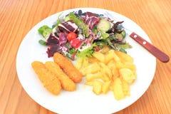 Insalata di pollo impanata Fotografia Stock Libera da Diritti