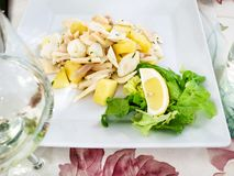 insalata di Polpo (salad with octopus stock images