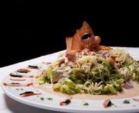 Insalata di Proscuitto con la salsa della maionese Fotografie Stock Libere da Diritti