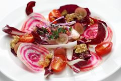 Insalata di radicchio rosso con rapa rossa. Italian purple red salad Royalty Free Stock Photography