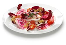Insalata di radicchio rosso con rapa rossa. Italian purple red salad Royalty Free Stock Photo