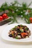 Insalata di riso rosso Fotografie Stock