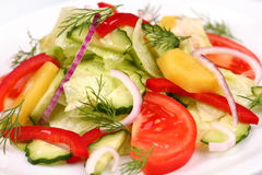 Insalata di verdure Immagini Stock Libere da Diritti