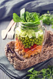 Insalata di verdure casalinga Fotografia Stock