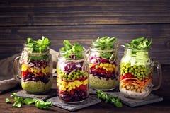 Insalata di verdure casalinga Fotografia Stock Libera da Diritti