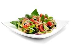 Insalata di verdure con basilico Fotografia Stock Libera da Diritti