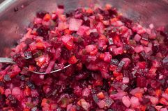 Insalata di verdure con i vari ingredienti fotografia stock