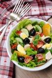 Insalata di verdure con il pollo e le uova Immagine Stock